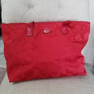 Coach Bag/Carry on - Red